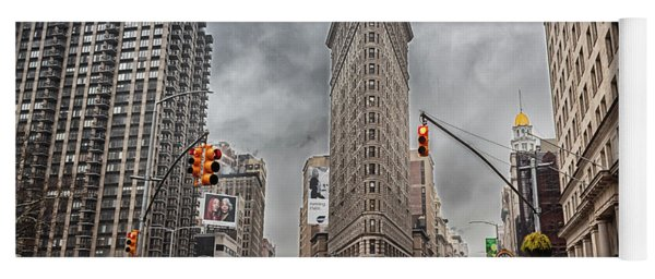 Yoga Mat featuring the photograph Flatiron Loveliness by Alison Frank