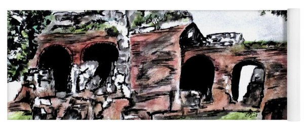 Flavian Amphitheater Pozzuoli Italy Yoga Mat