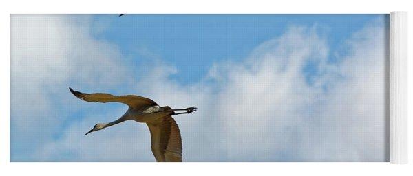 Flight Of The Cranes Yoga Mat
