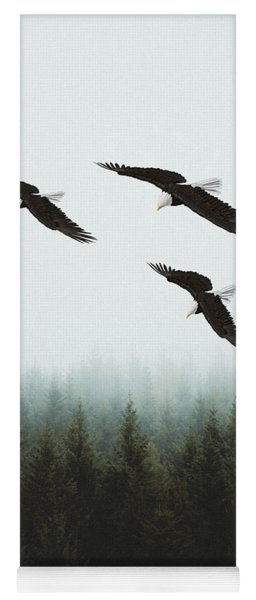 Yoga Mat featuring the photograph Flight Of The Eagles by Ericamaxine Price