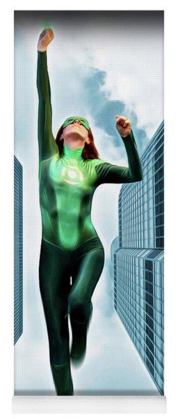 Flight Of The Green Lantern Yoga Mat