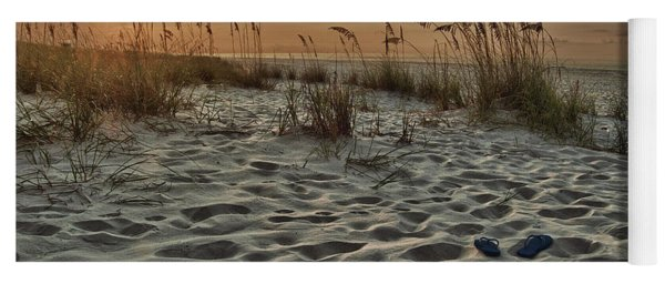 Flipflops On The Beach Yoga Mat