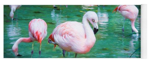 Flock Of Flamingos Yoga Mat