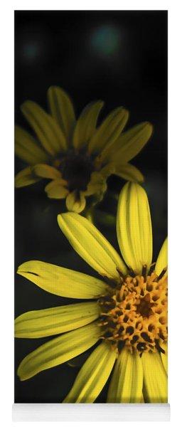 Flora In Yellow Yoga Mat