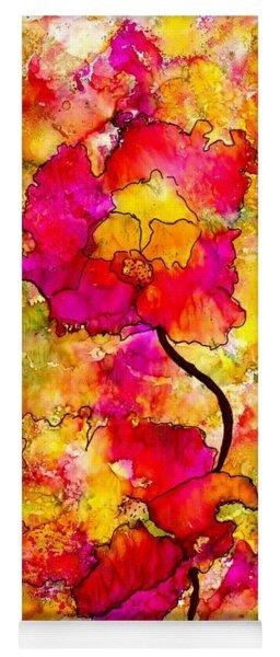 Floral Duet Yoga Mat