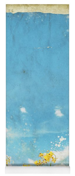 Floral In Blue Sky And Cloud Yoga Mat