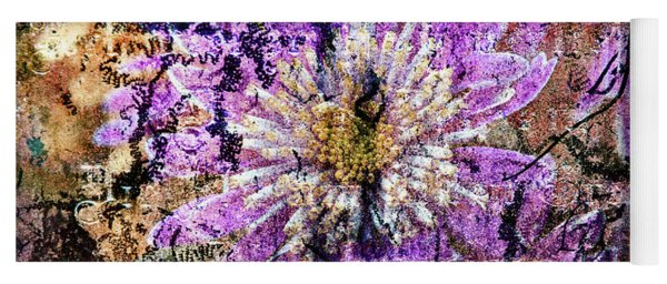 Floral Poetry Of Time Yoga Mat