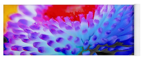 Floral Rainbow Splattered In Thick Paint Yoga Mat