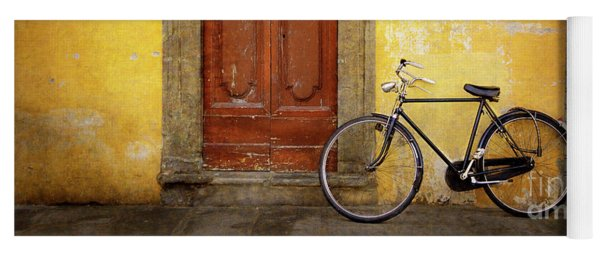 Yoga Mat featuring the photograph Florence Bicycle Under The Sun by Craig J Satterlee