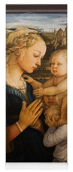 Florence - Madonna And Child With Angels- Filippo Lippi Yoga Mat