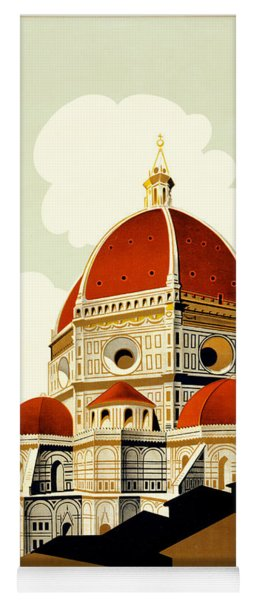 Florence Travel Poster Yoga Mat