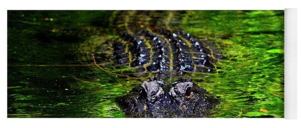 Florida Alligator Encounter Yoga Mat