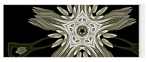 Flower Abstraction Yoga Mat