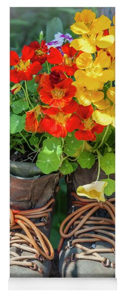 Flower Boots Yoga Mat
