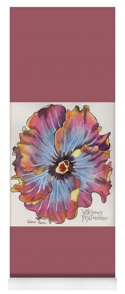 Flower Hibiscus Malvaceae Watercolor Painting Yoga Mat