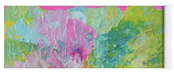Abstract Flower In Pink Surround Yoga Mat