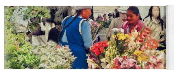 Flower Market - Cuenca - Ecuador Yoga Mat