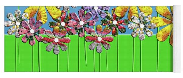 Flower Power Yoga Mat