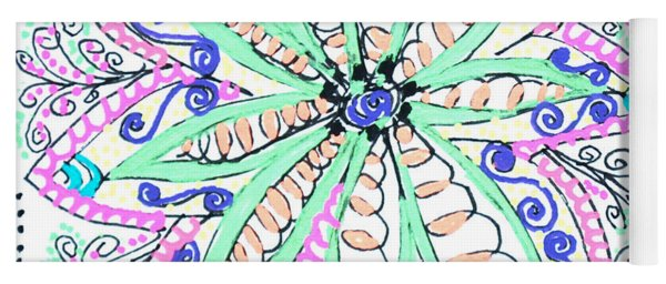 Flower Power Yoga Mat