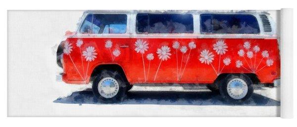 Flower Power Van Yoga Mat