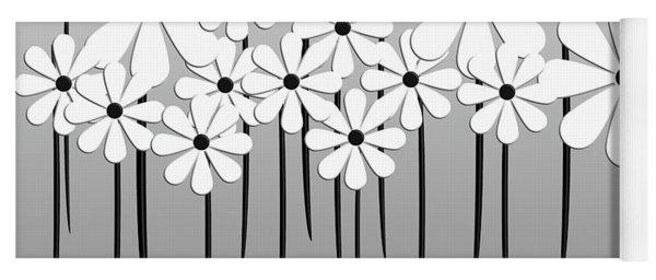 Flower Power - White  Yoga Mat