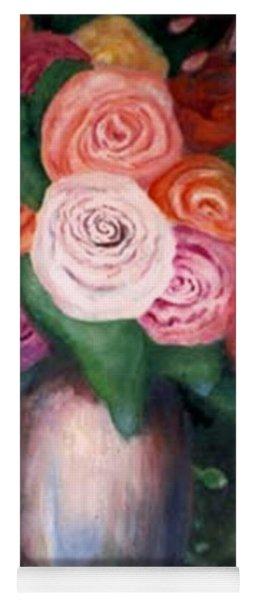 Flower Spirals Yoga Mat