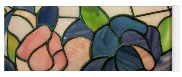 Yoga Mat featuring the photograph Flower Stained Glass  by Chris Flees