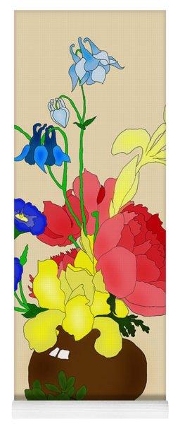 Floral Still Life 1674 Yoga Mat