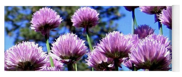 Flowering Chives Yoga Mat