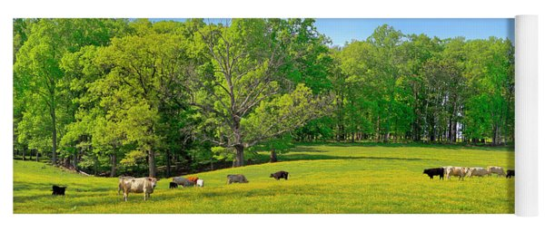 Flowering Cow Pasture Yoga Mat