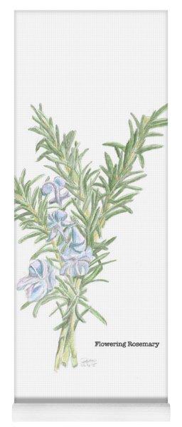 Flowering Rosemary Yoga Mat