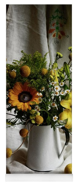 Flowers And Lemons Yoga Mat