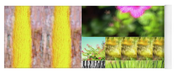 Flowers And Plants Impressionistic Yoga Mat