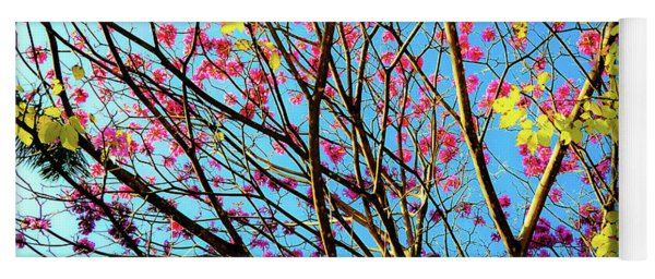 Flowers And Trees Yoga Mat