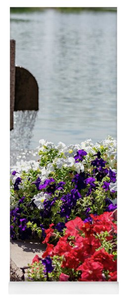 Flowers And Water Yoga Mat