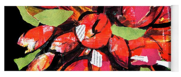 Flowers, Art Collage Yoga Mat