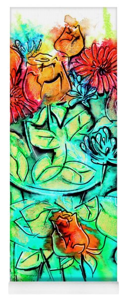 Flowers Bouquet, Illustration Yoga Mat