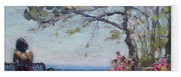 Flowers By Lake Ontario Yoga Mat