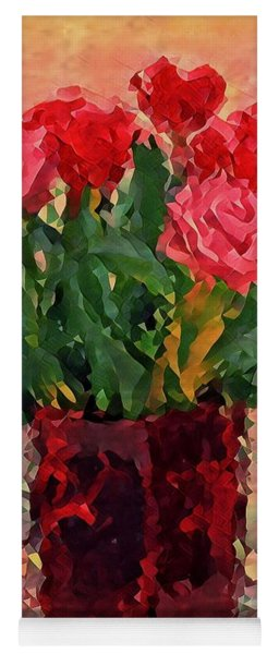 Flowers In A  Vase Yoga Mat