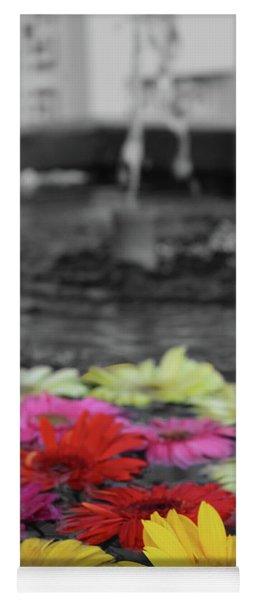 Flowers In Fountain Yoga Mat