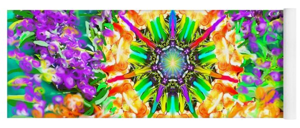 Flowers Mandala Yoga Mat