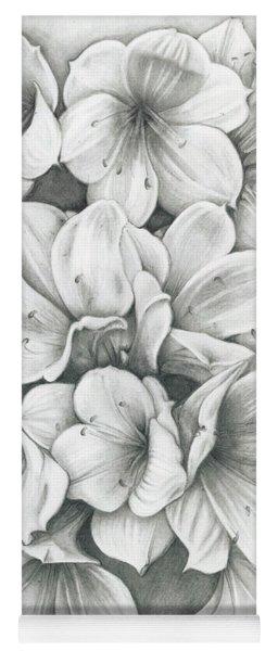 Clivia Flowers Pencil Yoga Mat