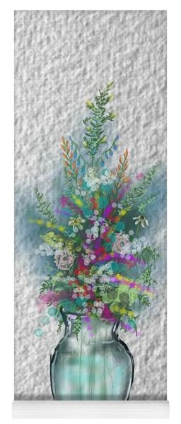 Yoga Mat featuring the digital art Flowers Study Two by Darren Cannell