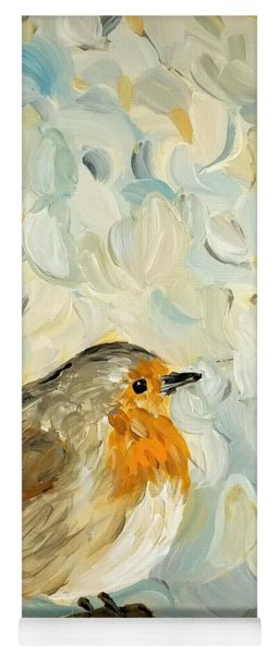 Fluffy Bird In Snow Yoga Mat
