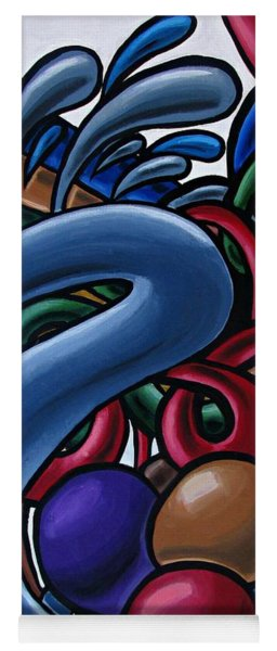 Colorful Abstract Art Painting Chromatic Water Artwork  Yoga Mat