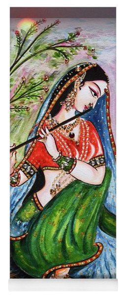 Flute Playing In - Krishna Devotion  Yoga Mat