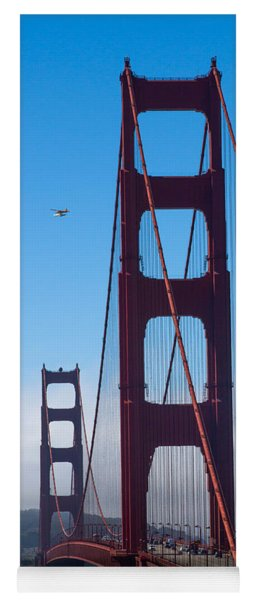 Fly By At The Golden Gate Bridge Yoga Mat