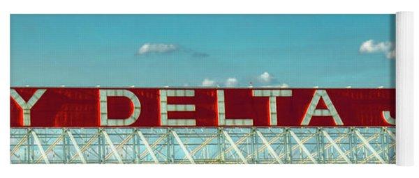 Fly Delta Jets Signage Hartsfield Jackson International Airport Art Atlanta, Georgia Art Yoga Mat