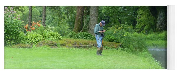 Fly Fishing On Trout Run Creek Yoga Mat