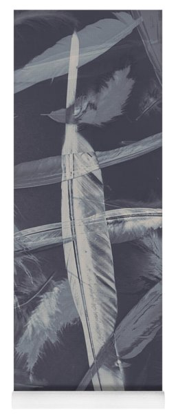 Flying Featherabstract Background Yoga Mat
